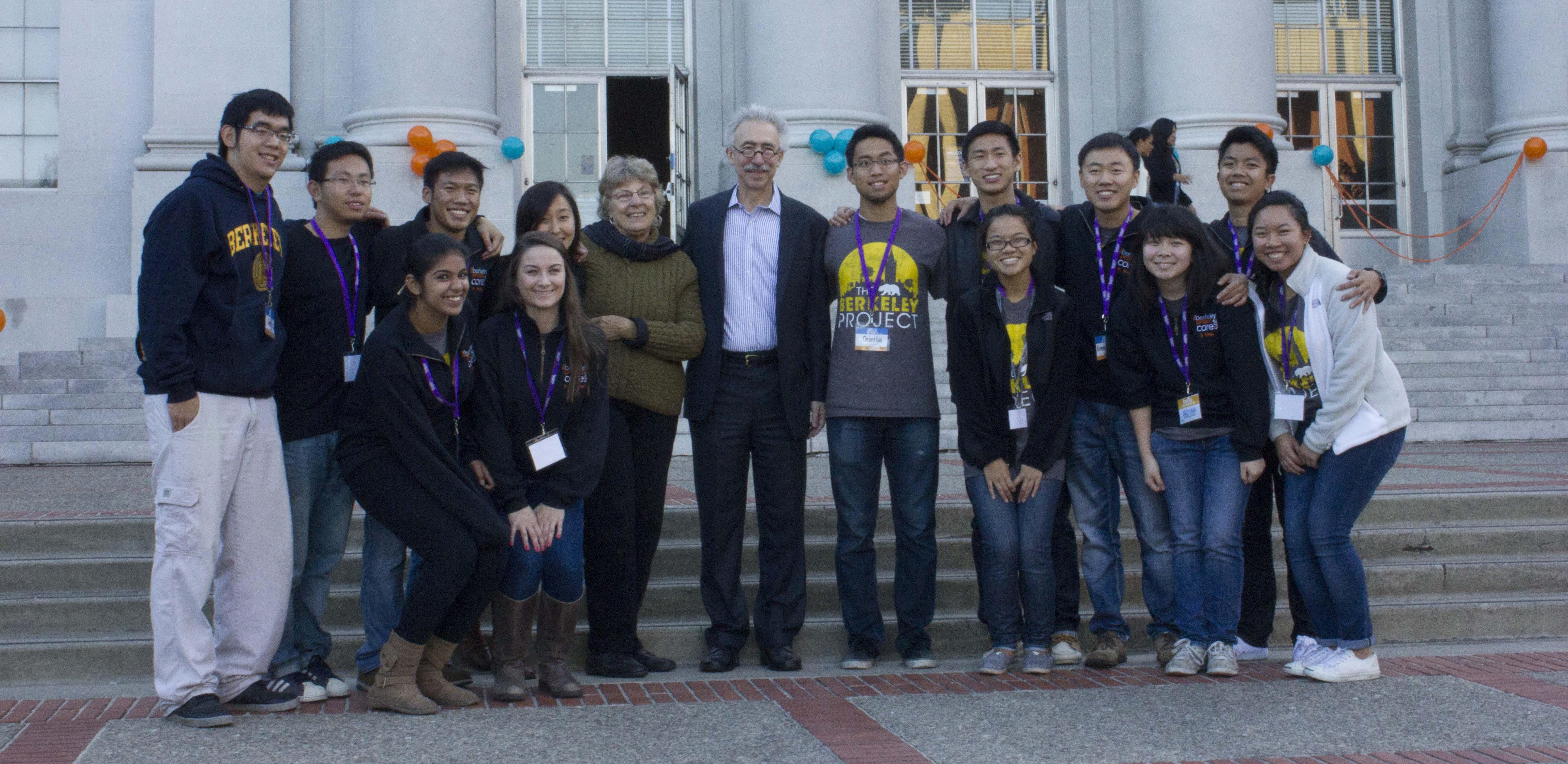Chancellor Dirks with students